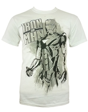 Iron Man T-Shirt, Iron Man Pose White