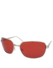 Tyler Style Sunglasses, Silver Frame / Red Lens