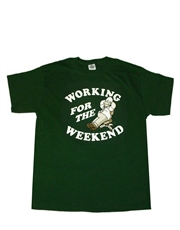 Simpsons T-Shirt, Simpsons Homer Weekend Green