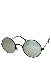 Teashade Sunglasses, Teashade Round Style 11, Black Frame / Full Mirror Lens
