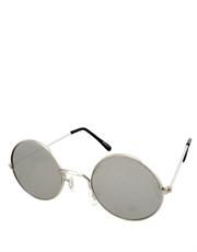 Teashade Sunglasses, Teashade Round Style 11, Silver Frame / Full Mirror Lens