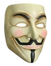 V For Vendetta Costume Accessory, Mens V For Vendetta Mask Style 1