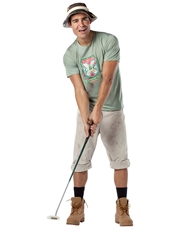 Caddyshack Costume, Mens Carl Spackler Golf Outfit