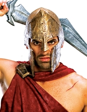 300 Costume Accessory, Mens Spartan Helmet
