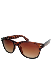 Wolf Wall Street Dicaprio Style Sunglasses, Tortoise Frame / Brown Gradient Lens