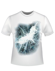 Batman T-Shirt, Dark Knight Rises T-Shirt, Movie Poster White