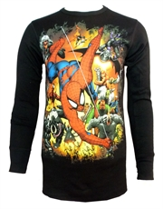 Spiderman Long Sleeve Top, Spiderman Top Everyone Thermal Black