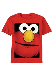 Sesame Street T-Shirt, Sesame Street Elmo Big Face Red