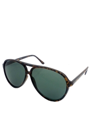 Enforcer Eastwood Style Sunglasses, Tortoise Frame / Smoke Lens