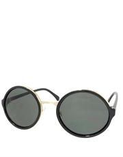 Teashade Sunglasses, Teashade Round Gold Black Smoke Style 19