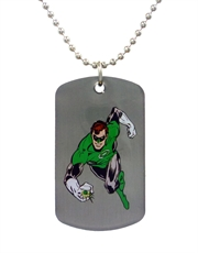 Green Lantern Run Dog Tag Necklace