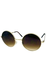 Teashade Sunglasses, Teashade Round Gold Brown Gradient LARGE Style 14