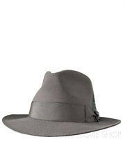 Fedora Fur Felt Suede Finish Hat, Style 3, Steel