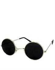 Lennon Style Teashade Round Sunglasses, Silver Frame / Smoke Lens