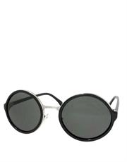 Teashade Sunglasses, Teashade Round Silver Black Smoke Style 19