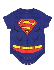 Superman Bodysuit, Superman Costume Blue Baby