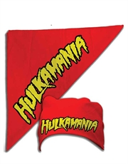 Hulk Hogan Costume, Hulk Hogan Hulkamania Bandana Red