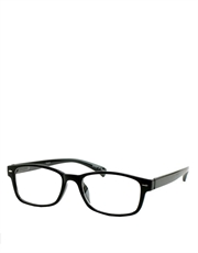 C Kent Cavill Style Sunglasses, Black Frame / Clear Lens