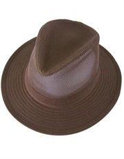 Indiana Jones Cotton Mesh Twill Brown Safari Hat