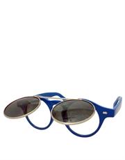 Teashade Sunglasses, Teashade Round Flip Silver Blue Smoke Style 20