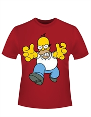 Simpsons T-Shirt, Simpsons Homer Mad Red