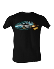 Back To The Future T-Shirt, Back To The Future Delorean Arty Black