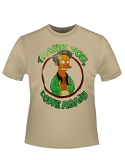 Simpsons T-Shirt, Simpsons Apu Come Again Beige