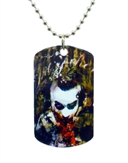 Batman Dark Knight Joker Cards Arty Dog Tag Necklace