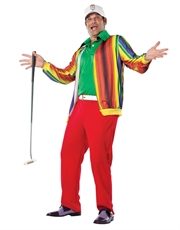 Caddyshack Costume, Mens Al Czervik Golf Outfit