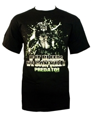 Predator T-Shirt, Predator If It Bleeds We Can Kill It Black