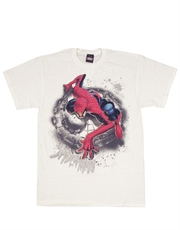 Spiderman T-Shirt, Spiderman Search Wall White
