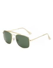 Carlito Pacino Style Sunglasses, Gold Frame / Smoke Lens