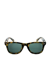 Catch Me DiCaprio Style Sunglasses, Tortoise Frame / Green Lens