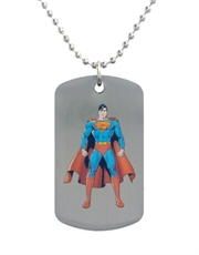 Superman Clark Dog Tag Necklace