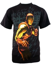 Iron Man T-Shirt, Iron Man Kanji Black
