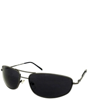 Departed M. Damon Style Sunglasses, Gunmetal Frame / Smoke Lens