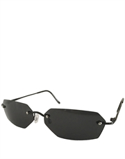 Agent Smith Style Sunglasses, Rimless / Smoke Lens