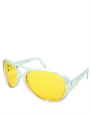 Elvis Sunglasses, Elvis Chrome Yellow Style 4