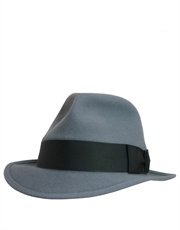 Daily Reporter Fedora Hat, Light Grey