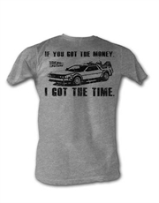 Back To The Future T-Shirt, Back To The Future Got The Money Grey