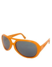 Elvis Sunglasses, Elvis Neon Orange Smoke Mirrow Style 5