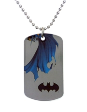 Batman Wings Dog Tag Necklace