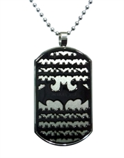 Batman 3D Steel Dog Tag Necklace