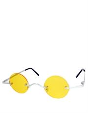 Teashade Sunglasses, Teashade Round Silver Yellow Style 18