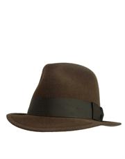 Rorschach Style Fedora Hat, Brown