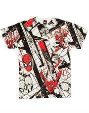 Spiderman T-Shirt, Spiderman Red Silk White