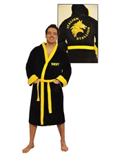 Rocky Bathrobe, Rocky Balboa Dressing Gown Bathrobe, Cotton Black