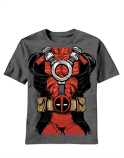 Deadpool T-Shirt, Deadpool Costume Grey