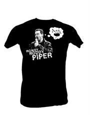 WWE T-Shirt, WWE Rowdy Roddy Piper Bagpipes Black