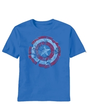 Captain America T-Shirt, Captain America Glass Shield Blue
